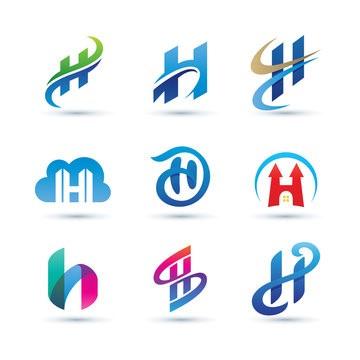 طراحی لوگو با حرف h