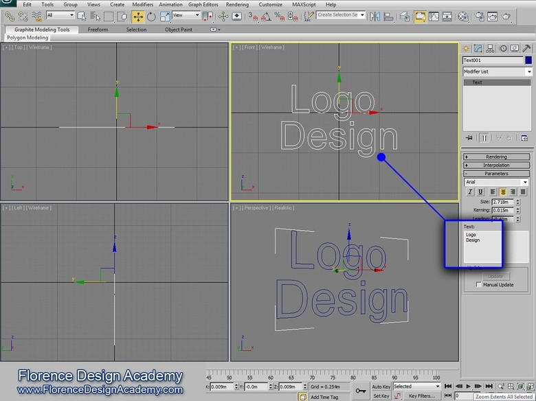 طراحی لوگو با 3D Max (تری دی مکس)