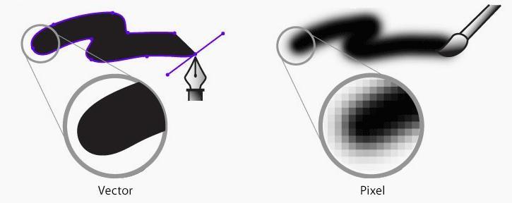 چرا باید از گرافیک برداری (وکتور) برای طراحی لوگو حرفه ای استفاده کرد؟