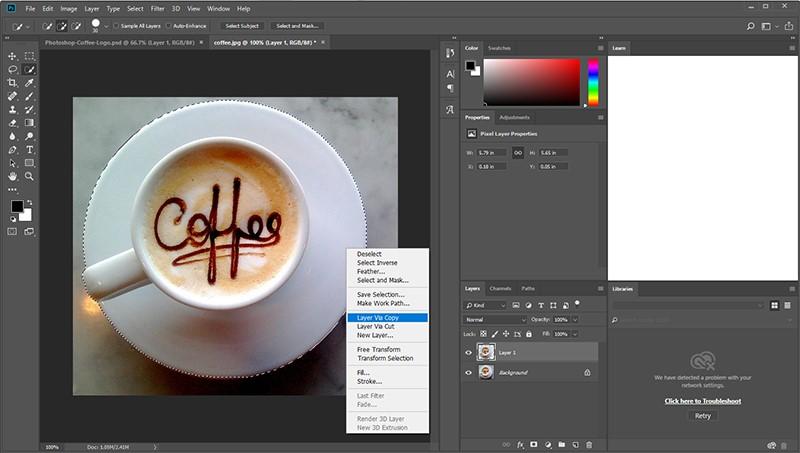 طراحی لوگو با فتوشاپ (Photoshop)