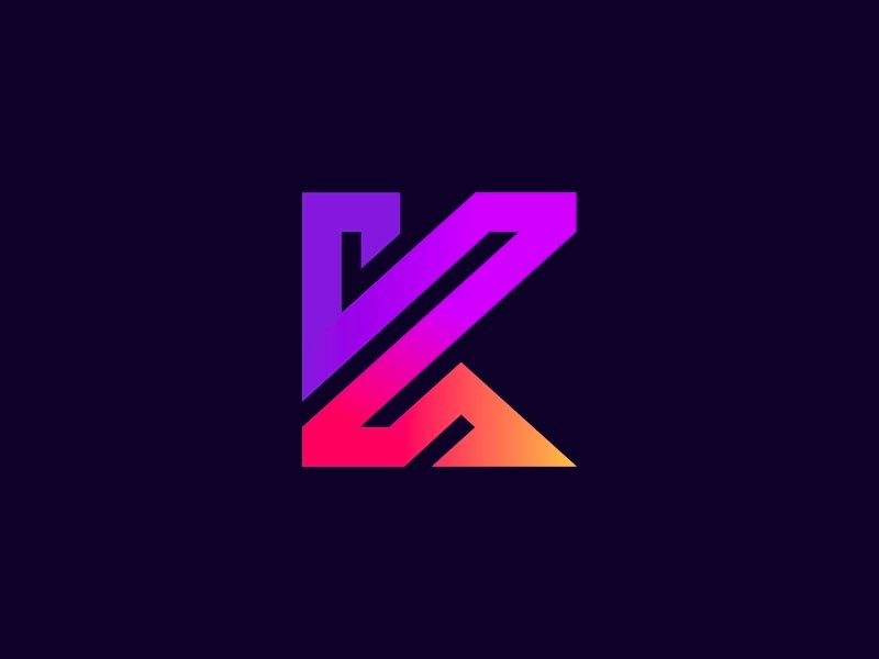 طراحی لوگوی حرف k