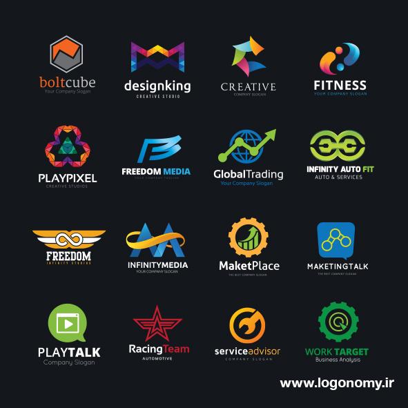 نمونه لوگوهای طراحی شده
